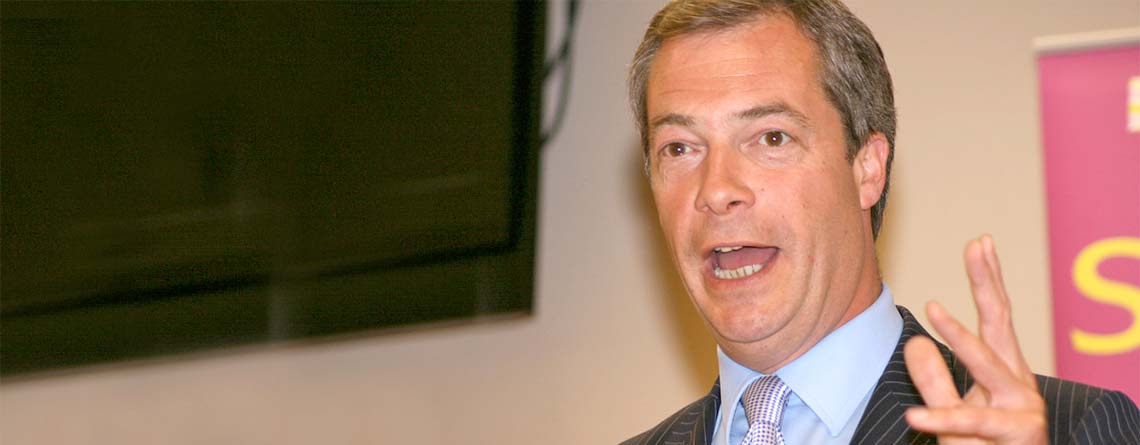 Nigel Farage am 4. Oktober in Winterthur