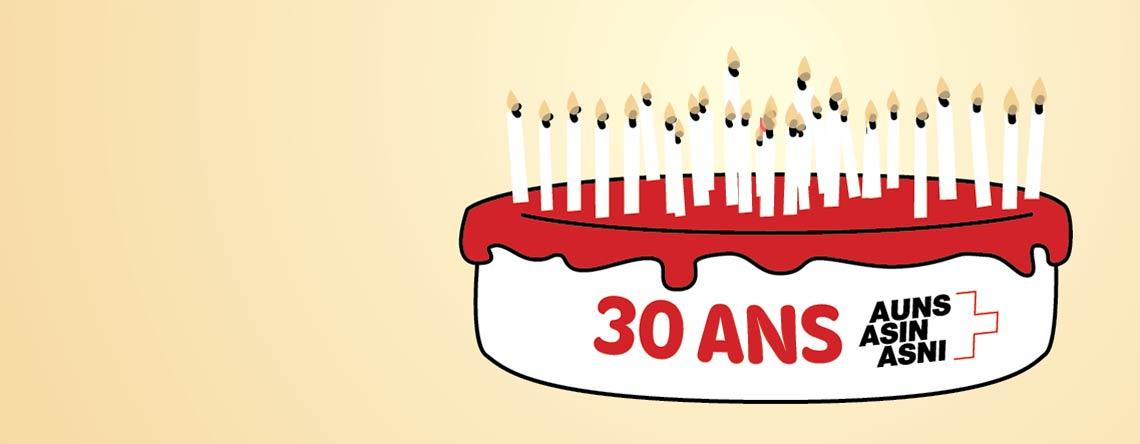 Le 19 juin 2016 : 30 ans se sont écoulés depuis la fondation de l'ASIN
