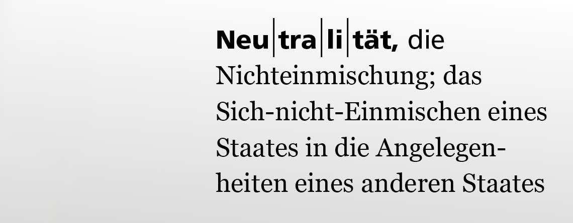Swisscoy: Zeit, abzuschliessen.