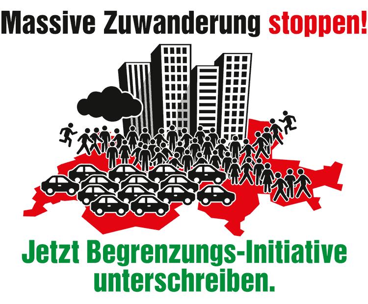Banner Begrenzungsinitiative