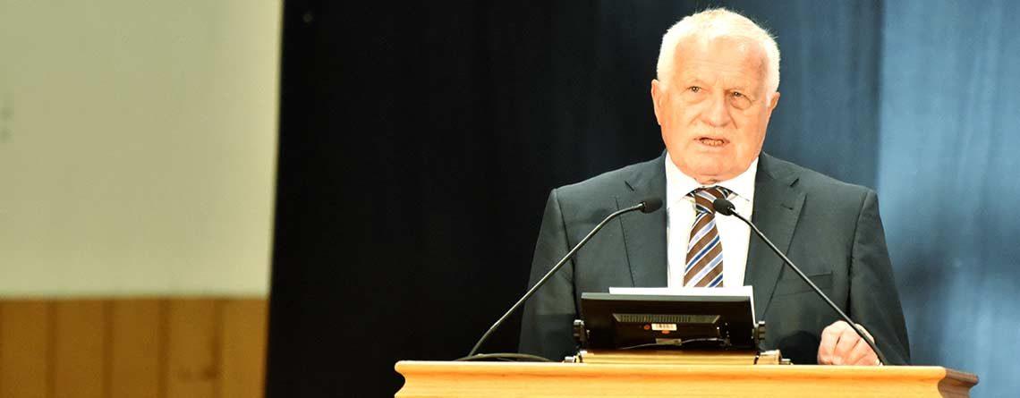 Václav Klaus: «Klarheit darf nie durch politische Korrektheit vernebelt werden.»