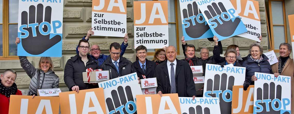 Petition «Stopp UNO-Migrationspakt» eingereicht