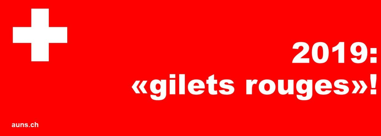 2019: «Gilets rouges» – unser Widerstand muss sichtbar werden!