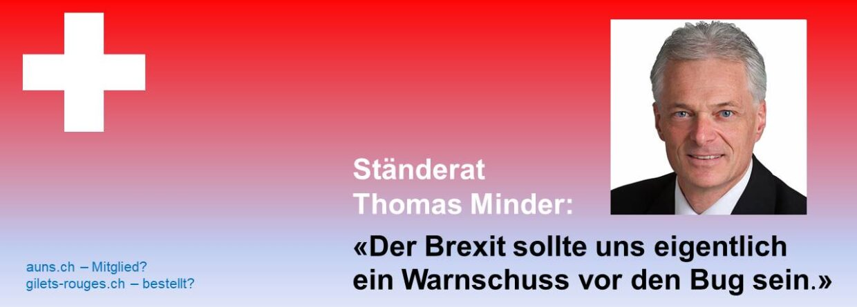 Ständerat Thomas Minder: «Es braucht Neuverhandlungen, nicht Zusatzverhandlungen!»