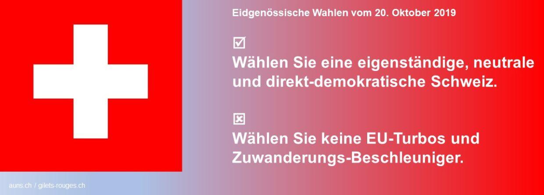 Eidgenössische Wahlen 20. Oktober 2019