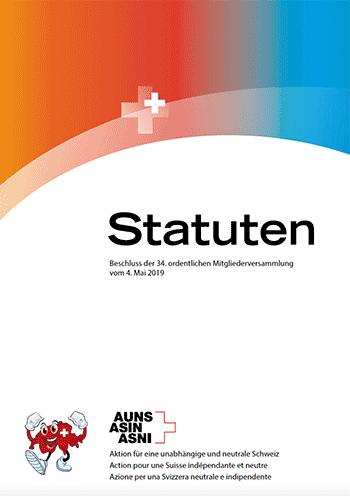 Titelseite Broschüre Statuten